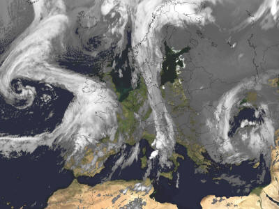 Weather Satellite Map Europe Claudetemaki