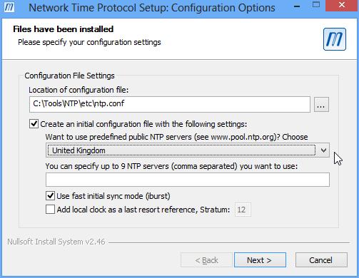 Installing NTP on Windows
