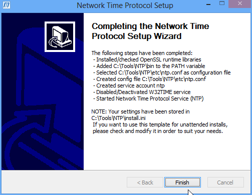 Installing NTP on Windows