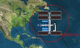 WXtrack - predicts satellite positions and ground path images - from