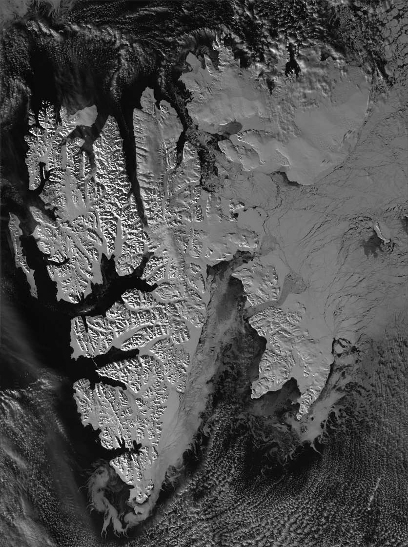 Svalbard image interpolated to 125m per pixel